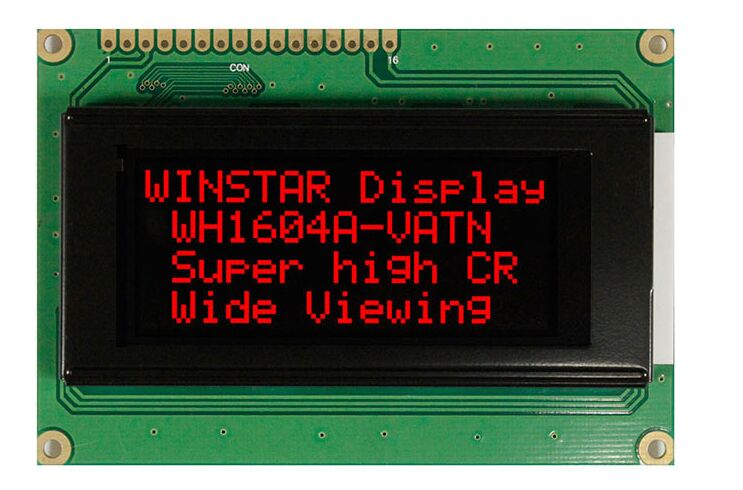WH1604A-RLL WINSTAR 16*4 VATN LCD Screen - Red Backlight New And Original