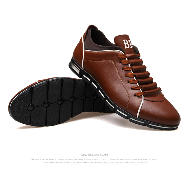 Plus size 37-48 Brand Men Shoes England Trend Casual Leisure Shoes Leather Shoes Breathable