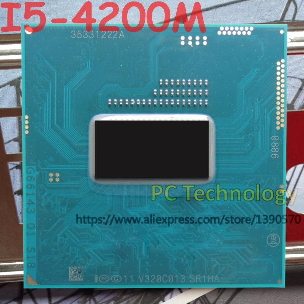 Original Intel Core I5 4200M SR1HA CPU I5 4200M processor FCPGA946 2 50GHz 3 10GHz 3M