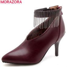 MORAZORA 2018 nouvelle arrivée printemps automne pompes femmes chaussures  bout pointu peu profonde mode chaussures talons aiguil. 7802774c6d49