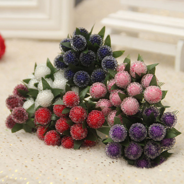Crystal berries artificial flower raspberry fruit garden home crystal berries artificial flower raspberry fruit garden home wedding decor micro landscaping decoration craft diy accessories junglespirit Choice Image