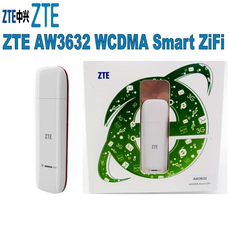 ZTE Aw3632 14.4 Mbps 3G + carte de données Wifi, Modem Usb 3G avec prise en charge Wifi pour 5