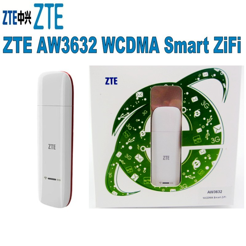 ZTE Aw3632 14.4 Mbps 3G + Wifi Data Card, 3G Usb Modem With Wifi Support For 5