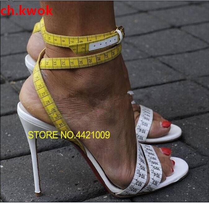 Imprimer La Chaussures Mode D'été Peep 1 Dames Mince Toe Cheville Bride Dirigeants Gladiateur Talons Filles Mujers Haute Femme Sandales À A8IwvSn