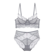 ultra-thin push up wide lace underwear breathable bra sets