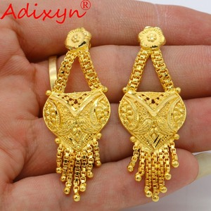 Image 5 - Adixyn Arab Necklace and Earrings Jewelry Set For Women Gold Color Elegant African/Ethiopian/Dubai Wedding/Party Gifts N100712
