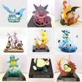 Lucario Articuno Mewtwo Charizard Pikachu anime cartoon action toy figures Collection model toy Car decoration toys pkr