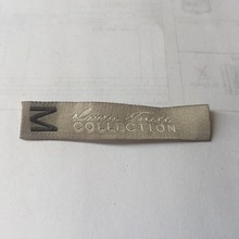 Custom 1*5.4cm High Density Clothing Labels Woven