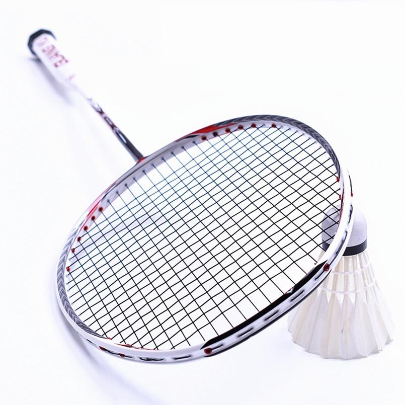 LOKI N90 Professionale di Volano del Carbonio Racchetta 7U 67g £ 30 Strung Badminton Attrezzature Sport di Racchetta con Impugnature