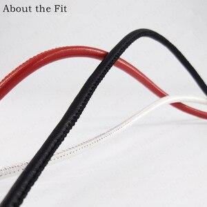 Image 3 - Cordes en cuir dagneau cousues 5mm 100M avec noyau en coton, cordes en cuir véritable en peau de mouton pour Bracelet, fabrication de bijoux