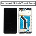 High Quality White  Black Color 5.2'' LCD Display + Touch Screen Digitizer Assembly For Huawei P9 lite lcd with frame