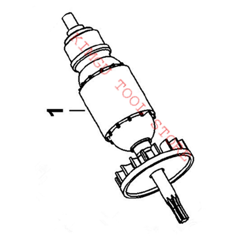 ARMATURE 220-230V Rotor 1006582-00 Replace For Dewalt DW341K