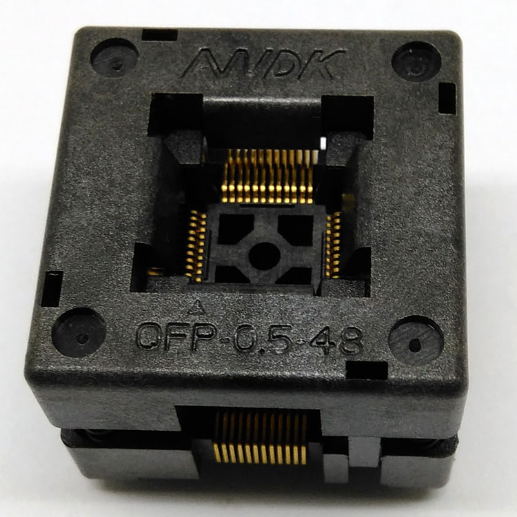 QFP48 TQFP48 LQFP48 Open top Pitch 0.5mm Programmer Socket FPQ-48-0.5-06 Test Flash Adapter Conversion Block free shipping sop32 wide body test seat ots 32 1 27 16 soic32 burn block programming block adapter