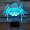 2016 Cartoon Monster Spider 3D Lamp DECOR creative night Light 7 Colors Chaning cool lamp Atmosphere Light as Home Decoration