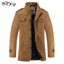 2016 autumn new men's casual comfort HCXY brand windbreaker jacket PU material selection successful man