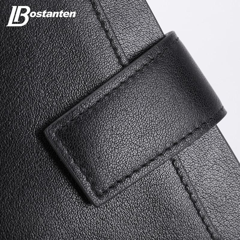 bostanten novidade black genuine leather Tipo de Fecho : Zíper e Fecho