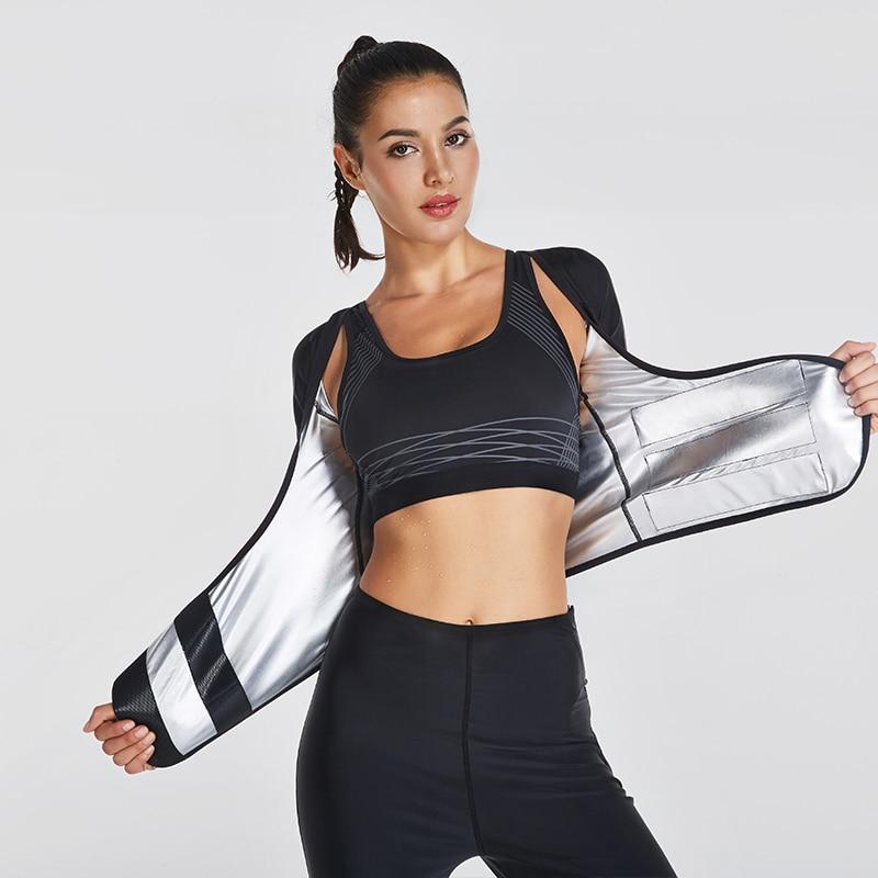 c13402fe8940a Women Hot Shapers Sauna Sweat Body Shaper Sports Slimming Shapewear Waist  Trainer Weight Loss Waist Shaper Bodybuilding Shirt-in Running T-Shirts  from ...