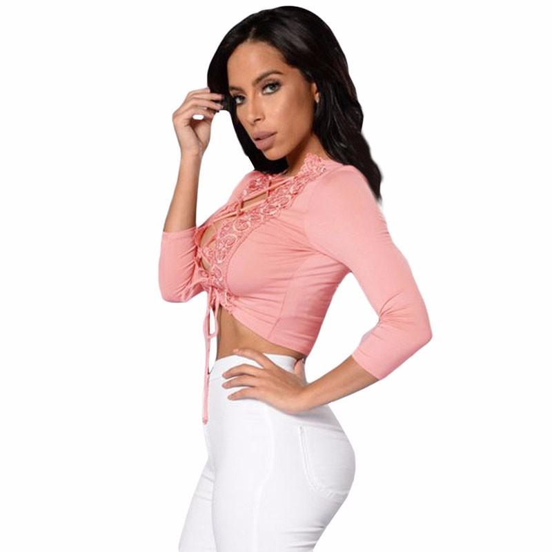Pink-Crochet-Lace-Trim-Lace-Up-Front-Crop-Top-LC25916-10-2