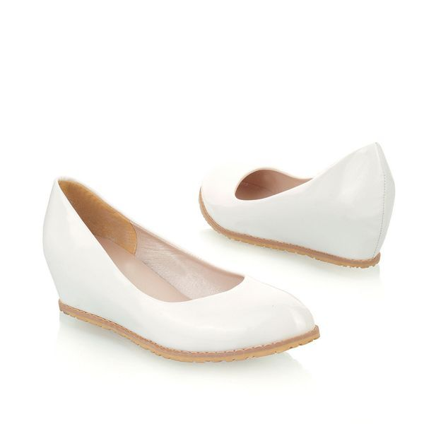 2013 New arrive wedges patent leather purity Wedding shoes woman shoes pink white Pumps LWS-130130-08