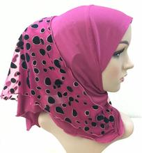 H1184 new style small girl hijab with one more layer,mixed colors,fast delivery