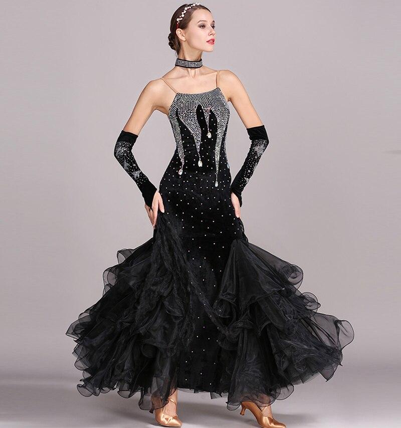 Standard Ballroom Dance Dresses Women 2019 New Design Waltz Dancing Skirt Adult Cheap Waltz Ballroom Competition