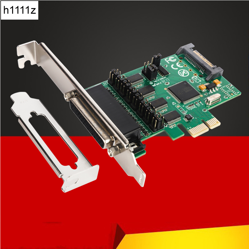 4Port RS232 Multi-serial Card PCI-Express to RS232 Serial WCH384L Chipset TTL Level 1 or 9 Pin Power Supply PCIE Controller Card new pci e pci express to 4 port rs232 multi serail card wch384l chipset db9 pin com adapter pcie controller with fan out cable