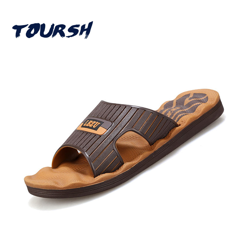 TOURSH Fashion Sandals Beach Casuals Slippers Mens Summer Sandals Men Sandalias Playa Hombre Sandales Homme Black Size8.5 9.5 10 бандана wdx wdx coolwind empedrat детская