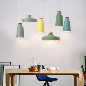 Image 5 - Creatieve Hout E27 Hanglampen 110V 220v voor Persoonlijkheid Decor Hout & Metaal lampenkap Opknoping lamp wit zwart armatuur