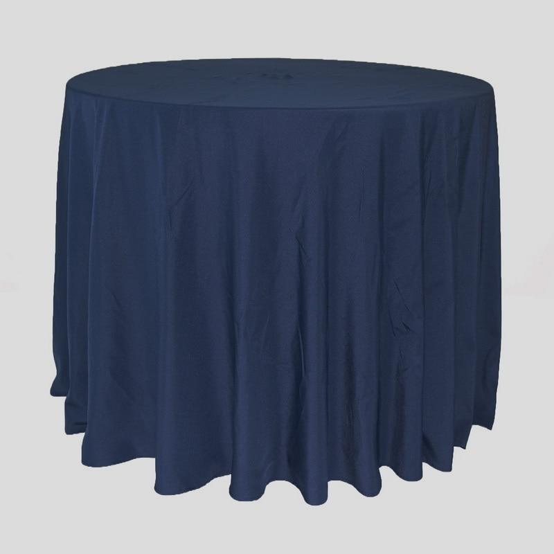 Mantel de Mantel redondo azul marino para eventos de boda Fiesta Hotel banquete Mesa decoración mantel redondo 300 cm-in Manteles from Hogar y Mascotas    1