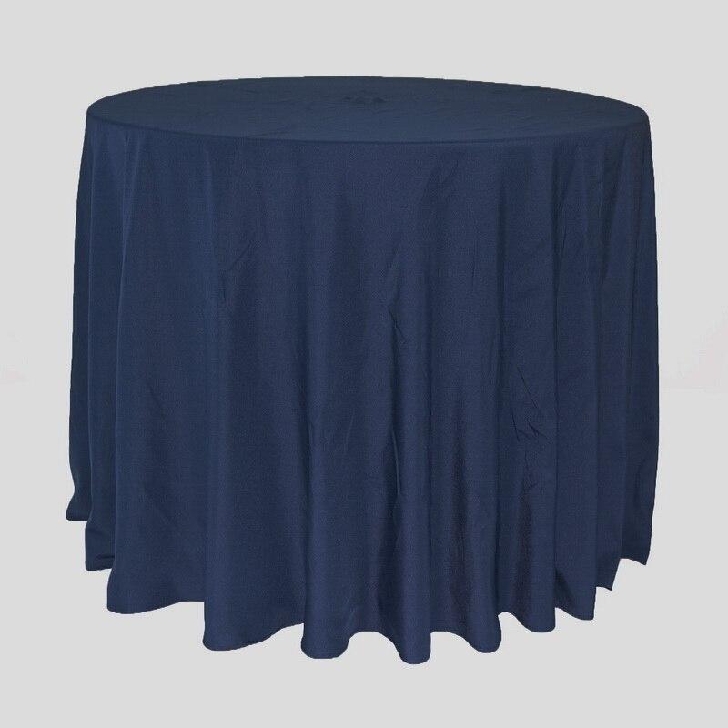紺ラウンドテーブルクロス Tablecover 結婚式イベントパーティーホテル宴会テーブルデコレーションテーブルクロス 300 センチメートルラウンド  グループ上の ホーム&ガーデン からの テーブルクロス の中 1