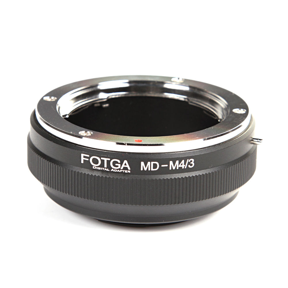 Wholesale FOTGA Lens Adapter Ring For Minolta MD Lens to Panasonic Olympus Micro 4/3 M4/3 E-P1 PL7G1 GF1 E-P5 G7 GH4 OM-D E-M10 fotga konica ar lens to panasonic olympus m4 3 adapter ring black