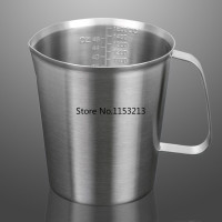 Thickening 304 Stainless Steel Measuring Cup 2000ml Milk Tea Cup Coffee Liquid Measuring Cup With Graduated