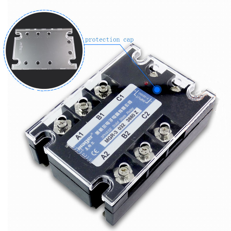 Free shipping 1pc High quality 80A Mager SSR MGR-3 032 3880Z DC-AC Three phase solid state relay DC control AC 80A 380V ssr mgr 1 d4860 meike er normally open type single phase solid state relay 60a dc ac