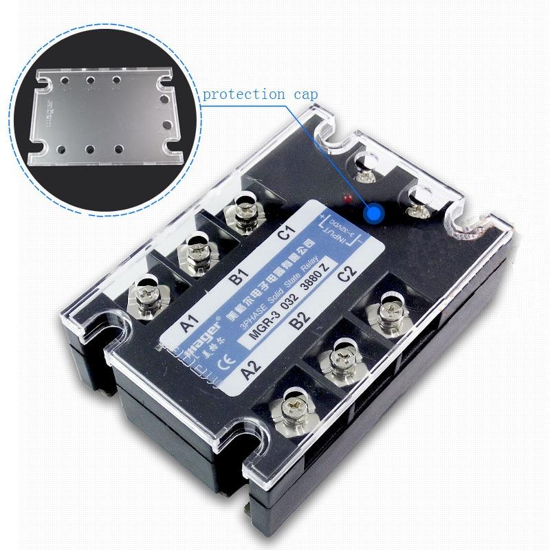 Livraison gratuite 1 pc haute qualité 80A Mager SSR MGR-3 032 3880Z DC-AC triphasé à semi-conducteurs relais DC contrôle AC 80A 380 V