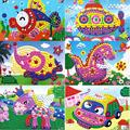 12 Patterns Kids Foam Mosaic Stickers Art Puzzle DIY 3D Diamond Pasted Cartoon Character Children's Educational Toy