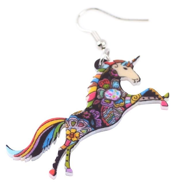 Colourful horse earrings