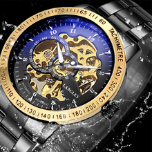 цена на Langley Hot Men Mechanical Wristwatches Automatic Self-Wind Men's Watches Business Causal Skeleton Watch For Male Clock Gifts