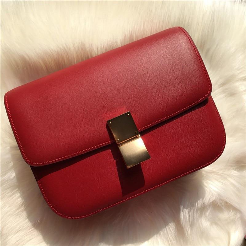 ของแท้หนังกระเป๋าถือผู้หญิง 2019 ออกแบบใหม่แฟชั่นไหล่กระเป๋าเต้าหู้กระเป๋าถือ-ใน กระเป๋าสะพายไหล่ จาก สัมภาระและกระเป๋า บน   1