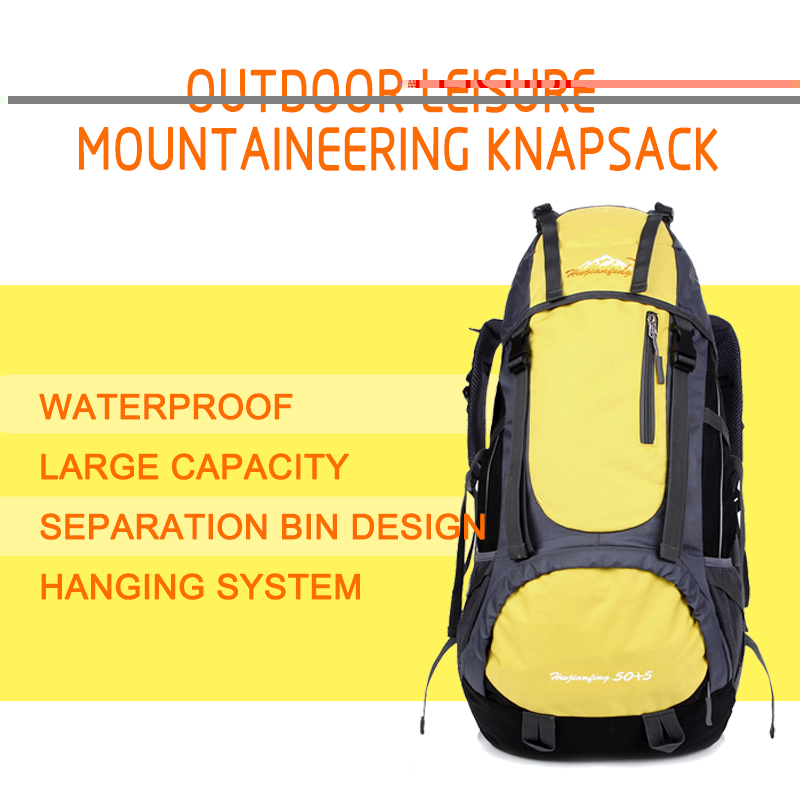 55 liters men / women outdoor camping hiking backpack waterproof wearable Nylon Travel Shoulder Bag breathable outdoor sport bag strong oxygen gazelle 26l backpack outdoor light breathable mountaineering bag double shoulder sport bag
