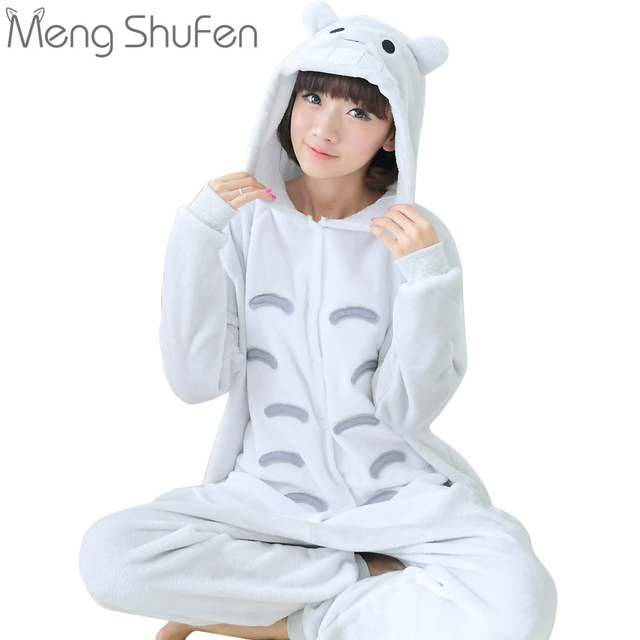 2017 New style Unisex Adult Totoro Pajamas Sets Sleepwear Cosplay Party  Costume Cartoon Animal Onesies Pyjamas Women Men Girls 905e71bda
