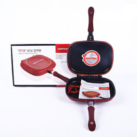 HOT ! Happycall 28cm/30cm/32cm Fry Pan Non-stick Fryer Pan Double Side Grill Fry Pan 4