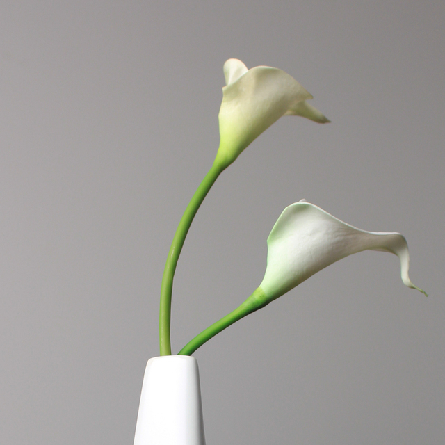 40pcs/lot) Simulation white Artificial Calla Lily Flowers Bouquet ...