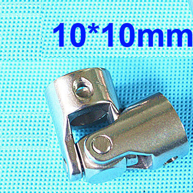 10mmx10mm OD24mm L55mm single universal joints coupling Stainless steel connector, crossing coupler RC Car Boat model, wholesale 15mmx15mm od24mm l88mm double universal joints coupling stainless steel connector crossing shaft coupler rc car boat model parts