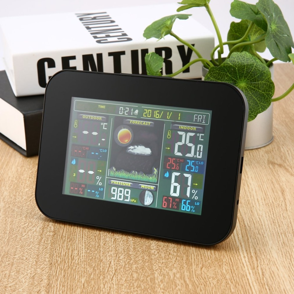 Wireless Weather Station with Indoor Outdoor Wireless Sensor Color Display Alarm Clock With Temperature Alerts Forecasting consequences detection and forecasting with autocorrelated errors