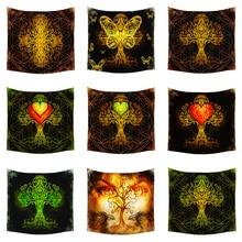 Boniu Indian Mandala Wall Hangings Tapestry Hippie Large Polyester Mandalas Wall Cloth Tapestries Beach Blanket Farmhouse Decor
