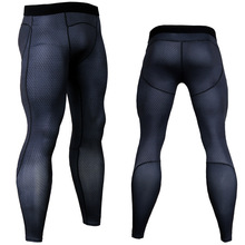 купить Compression Tights Running Men Sports Fitness Training Leggings Gym Jogging Pants Male Sportswear Yoga Workout Bottoms дешево