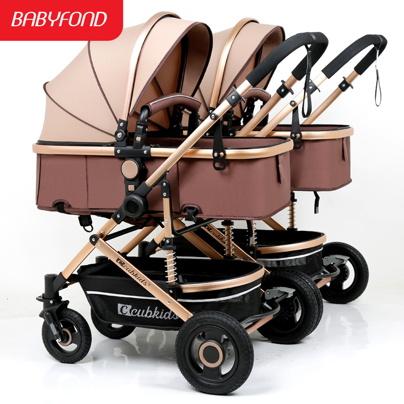 Twin Baby Detachable Seats 0-3 Years Old  Baby Can Lie High Landscape Lightweight Easy To Fold Stroller 16 Free Gifts