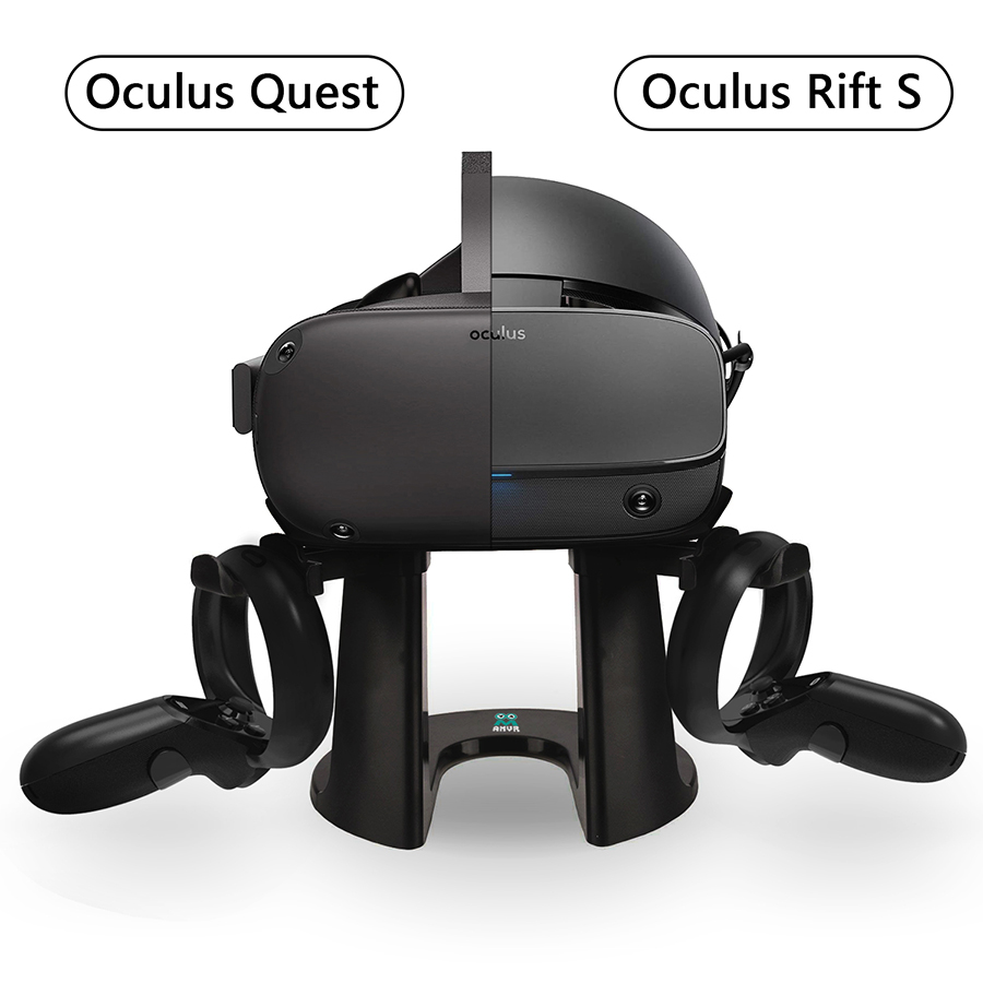 VR Stand Headset Display Holder and Controller Mount Station for Oculus Rift S Oculus Quest Headset