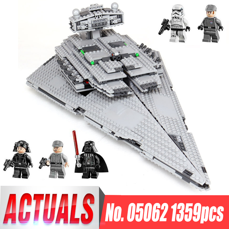 Lepin 05062 1359pcs Star War Series The Imperial Super Star Destroyer Set Toy Building Blocks Bricks Compatible legoing 75055 lepin 05062 genuine star series wars the star model destroyer set legoing 75055 building blocks bricks educational toys for gift
