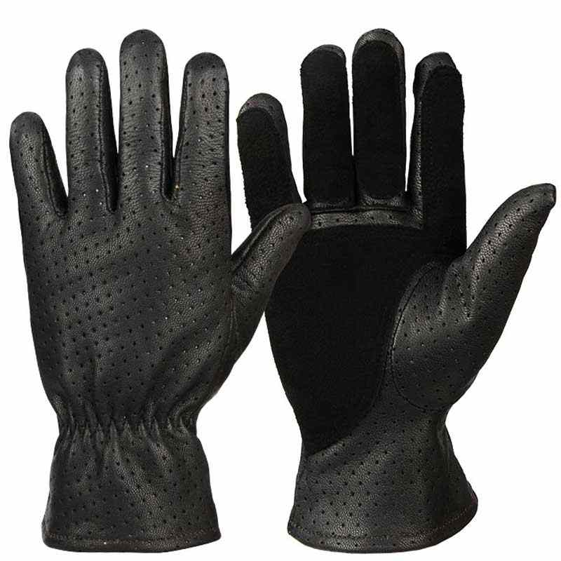 OZERO gants de chasse été cuir véritable Moto peau de chèvre respirant Moto motard course équitation Moto gants hommes 5021